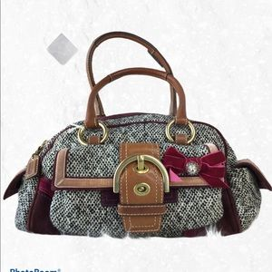 Coach Bleeker Tweed Satchel